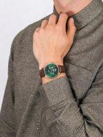zegarek Cluse CW0101502006 Aravis chrono leather rose gold green/dark brown męski z chronograf Aravis