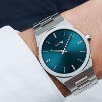 Cluse CW0101503003 Silver Petrol Blue zegarek klasyczny Vigoureux