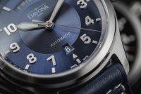 Davosa 161.585.45 zegarek srebrny klasyczny Pilot pasek