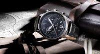Delbana 41601.672.6.034 zegarek srebrny klasyczny Retro Chronograph pasek