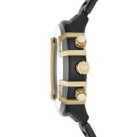 Diesel DZ4525 zegarek czarny sportowy Griffed bransoleta