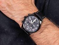 Zegarek męski elegancki Adriatica Pasek A8267.B224CH Aviation Fly Back szkło szafirowe - duże 6