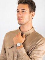 Zegarek męski elegancki Doxa Slim Line 105.60.021.60 szkło szafirowe - duże 4