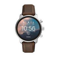 zegarek Fossil Smartwatch FTW4015 kwarcowy męski Fossil Q Gen 4 Smartwatch Explorist HR Brown Leather