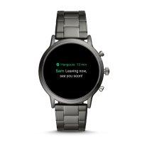 zegarek Fossil Smartwatch FTW4024 kwarcowy męski Fossil Q GEN 5 SMARTWATCH - THE CARLYLE HR SMOKE STAINLESS STEEL
