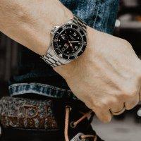 ICE Watch ICE.016031 ICE Steel - Black silver rozm. M ICE-Steel klasyczny zegarek srebrny