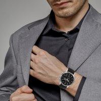 Jacques Lemans 1-1844ZA zegarek srebrny klasyczny Classic pasek