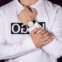 Zegarek męski klasyczny Bisset Klasyczne BSCE75GISX03BX szkło mineralne - duże 10