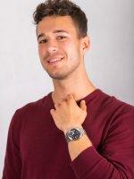 Zegarek męski klasyczny Casio EDIFICE Momentum EF-129D-1AVEF szkło mineralne - duże 4