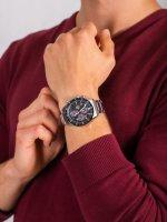 Zegarek męski klasyczny Casio EDIFICE Premium EFS-S540DB-1AUEF CARBON DIAL SAPPHIRE SOLAR szkło szafirowe - duże 5