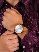 Zegarek męski klasyczny Doxa Challenge 215.30.021.02 szkło szafirowe - duże 5
