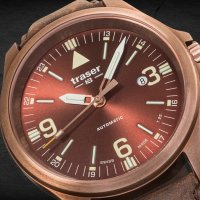 Traser TS-108073 P67 Officer Pro P67 Officer Pro Automatic Bronze Brown zegarek męski klasyczny szafirowe