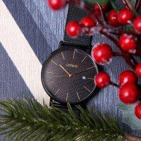 Lorus RH909LX9 zegarek czarny klasyczny Klasyczne bransoleta