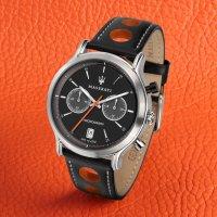 Maserati R8851138003 zegarek srebrny sportowy Legend pasek