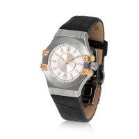 Maserati R8851108502 zegarek srebrny klasyczny Potenza pasek