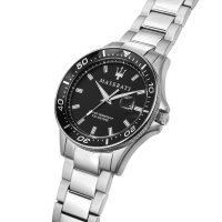 Maserati R8853140002 zegarek srebrny klasyczny Sfida bransoleta