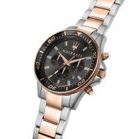Maserati R8873640002 zegarek srebrny sportowy Sfida bransoleta