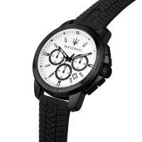 Maserati R8871621010 zegarek czarny sportowy Successo pasek