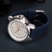 Maserati R8871621013 zegarek srebrny sportowy Successo pasek