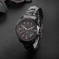 Maserati R8873621014 zegarek czarny sportowy Successo bransoleta