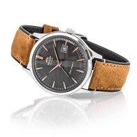 Orient FAC08003A0 zegarek srebrny klasyczny Classic pasek