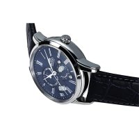 Orient FAK00005D0 zegarek srebrny klasyczny Classic pasek
