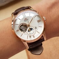 zegarek Orient RA-AS0003S10B różowe złoto Classic