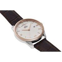 Orient RA-AX0006S0HB zegarek srebrny klasyczny Contemporary pasek