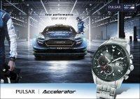 zegarek Pulsar PZ6027X1 srebrny Sport