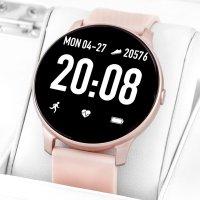 Rubicon RNCE40RIBX01AX zegarek różowy sportowy Smartwatch pasek