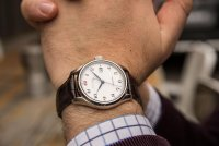 Seiko SPB039J1 zegarek srebrny klasyczny Automatic pasek