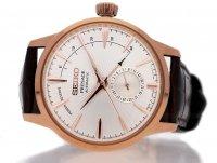 Seiko SSA346J1 zegarek różowe złoto klasyczny Presage pasek