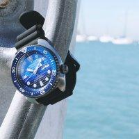 Seiko SRPC91K1 Prospex Prospex Turtle Save The Ocean Diver Automatic Special Edition zegarek męski sportowy mineralne utwardzane