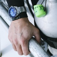 Seiko SRPC93K1 zegarek srebrny sportowy Prospex bransoleta