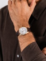 Seiko SNE530P1 męski zegarek Solar pasek