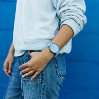 Skagen SKW6509 Aaren Kulor Light Blue Silicone zegarek klasyczny Aaren