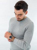 Zegarek męski sportowy Casio EDIFICE Momentum EFR-505D-1AVEF szkło mineralne - duże 4