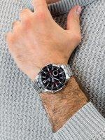 Zegarek męski sportowy Casio EDIFICE Momentum EFV-C100D-1AVEF SPORTY LCD CHRONOGRAPH szkło mineralne - duże 5