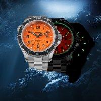 Traser TS-109379 P67 SuperSub Orange Special Set P67 SuperSub sportowy zegarek srebrny