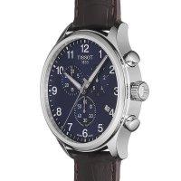 Tissot T116.617.16.047.00 zegarek srebrny klasyczny Chrono XL pasek