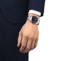 Tissot T127.407.11.041.00 zegarek srebrny klasyczny Gentleman bransoleta
