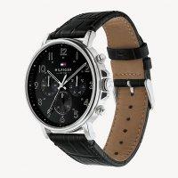 Tommy Hilfiger 1710381 zegarek srebrny fashion/modowy Męskie pasek