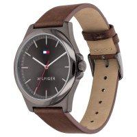 Tommy Hilfiger 1791717 zegarek szary klasyczny Męskie pasek