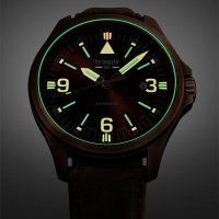 Traser TS-108073 P67 Officer Pro Automatic Bronze Brown P67 Officer Pro klasyczny zegarek brązowy
