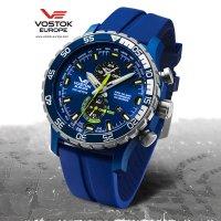 zegarek Vostok Europe YM8J-597E546 Expedition Everest Underground Multifunction męski z chronograf Expedition Everest Underground