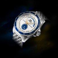 Vostok Europe NE57-225A562B zegarek srebrny klasyczny N1 Rocket bransoleta