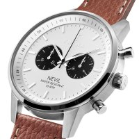 Zegarek męski z chronograf  Nevil NEST119-TS010212 - duże 5