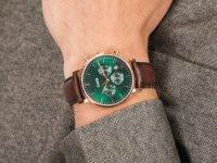 Cluse CW0101502006 Aravis chrono leather rose gold green/dark brown zegarek fashion/modowy Aravis