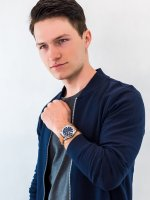 Zegarek męski z chronograf Fossil Grant FS5210IE GRANT - duże 4