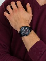 Zegarek męski z chronograf Rubicon Pasek RNCD98BMBX05AX - duże 5